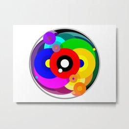 Kaleidoscope Color Wheel Metal Print