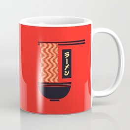 Ramen Japanese Food Noodle Bowl Chopsticks - Red Coffee Mug