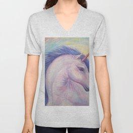 Purple Unicorn - Art by Lana Chromium Unisex V-Neck