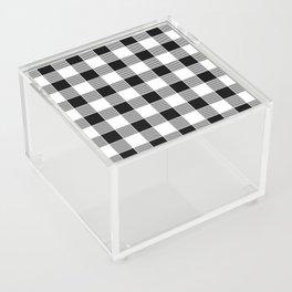 Buffalo Check - black / white Acrylic Box