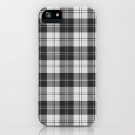 Clan Erskine Tartan // Black & White iPhone Case