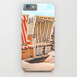 Baltrum Beach Huts, Germany iPhone Case