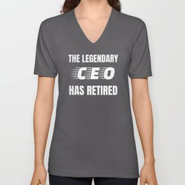Retired CEO Funny Retirement Gift Unisex V-Neck