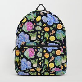 Winter Harvest Pattern Dark Backpack