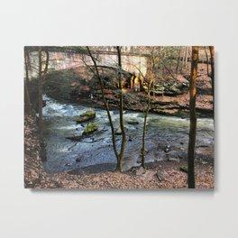 Stream and bridge Metal Print