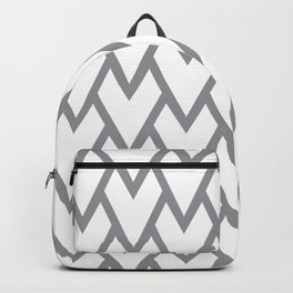 Abstract Heart - Arrow Head Shape Pattern 17 V2 Pantone 2021 Color Of The Year Ultimate Gray 17-5104 Backpack