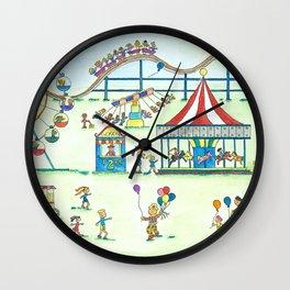 Fun at the Fair Wall Clock