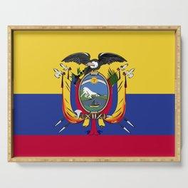 Ecuador flag emblem Serving Tray