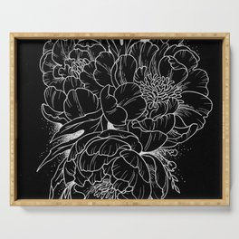 Peonies Serving Tray