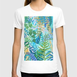 Blue Tropical Botanical T-shirt