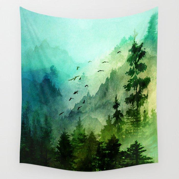 Mountain Morning Wandbehang