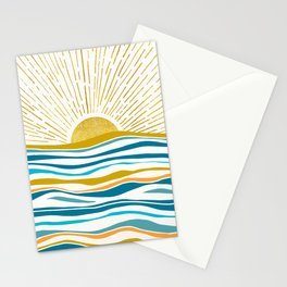 Sunrise At Sea Stationery Cards
