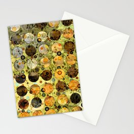 MELANGE OF YELLOW OCKER and BROWN Stationery Cards