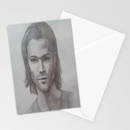 Sam Winchester Graphite portrait Stationery Cards