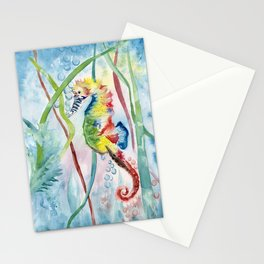 Colorful Seahorse Stationery Cards