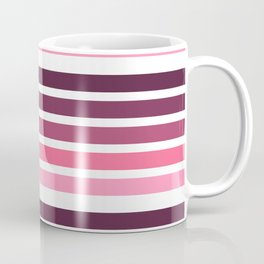 colorful lines decorative mininal pattern pink and purple Coffee Mug
