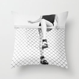 Hoping Fences Throw Pillow