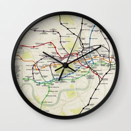 London Underground Map 1928 Wall Clock