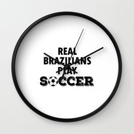 Real Brazilians Play Soccer Wall Clock