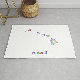 Rainbow Hawaii map Rug