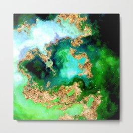 100 Starry Nebulas in Space 011 (Square) Metal Print