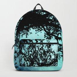 Black Trees Elegant Aqua Space Backpack