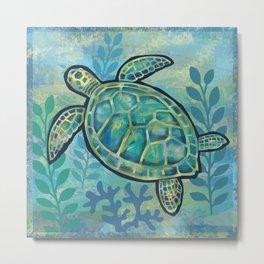 Sea Turtle Metal Print