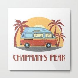 Chapman's Peak  TShirt Vintage Caravan Shirt Travel Road Gift Idea Metal Print