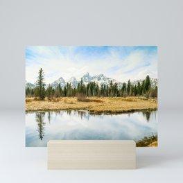 Grand Teton Reflection Fine Art Print Mini Art Print