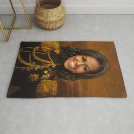 Michelle Obama Poster, Classical Painting, Regal art, General, First Lady, Democrat, Political Rug