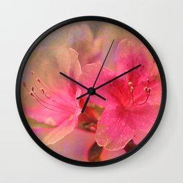 Flowers in a golden glow Wall Clock