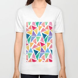 Watercolor Pattern Unisex V-Neck