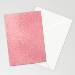 Simply Metallic in Pink Rose Gold Stationery Cards