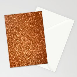 Bright Rose Pink Gold Glitter Stationery Cards