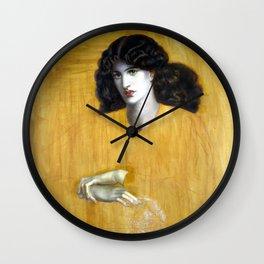 Dante Gabriel Rossetti La Donna Della Finestra (The Lady of Pity) Wall Clock