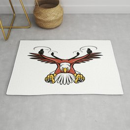 Half Eagle Half Drone Swooping Mascot Rug