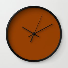 Simply Solid - Burnt Orange Wall Clock