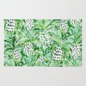 Tropical Sitch Green Pineapple Watercolor Art Print By