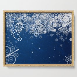 Holiday postcard Serving Tray