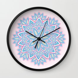 Colourful Flower Wall Clock