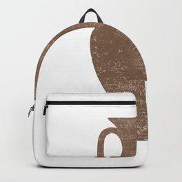 Minimal Abstract Greek Vase 3 - Amphora - Terracotta Series - Modern, Contemporary Print - Sepia Backpack