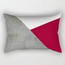 Concrete Burgundy Red White Rectangular Pillow