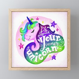 Embrace Your Inner Unicorn Framed Mini Art Print