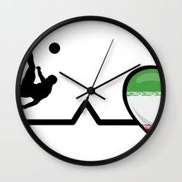 Heartbeat Soccer  Pulse Iran Love Wall Clock