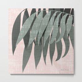 Textured Palm Leaves Metal Print