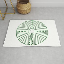 Cathedral of Our Lady of Chartres Labyrinth - Green Rug