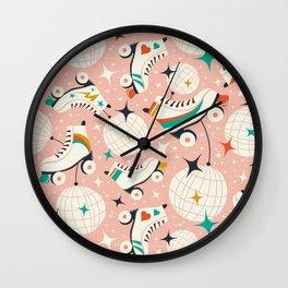 Roller Disco Pink Wall Clock