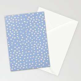 Spring blue Lake & Coconut Cream dots_ surface pattern Stationery Cards