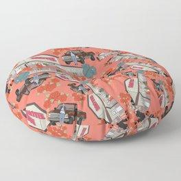 Floral motel Floor Pillow