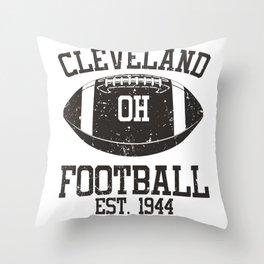 Cleveland Football Fan Gift Present Idea Throw Pillow